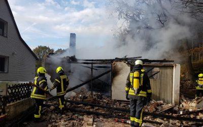 Feuer in einem Anbau
